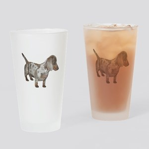 Speckled Dachshund Dog Drinking Glass